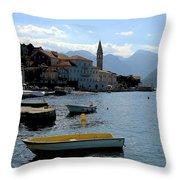 Bay Of Kotor Throw Pillow