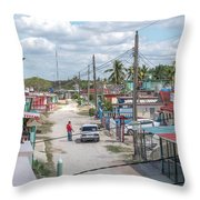 Bay Of Pigs Throw Pillow