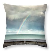 Bay Of Rainbows Throw Pillow