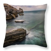 Bay Of The Gulf Of Poets Throw Pillow