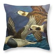 Bay Runners Throw Pillow