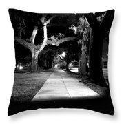 Bay Street Midnight Path Throw Pillow
