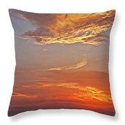 Bay Sunset Throw Pillow