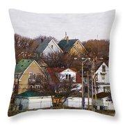 Bay View Neighborhood Throw Pillow