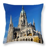 Bayeau Cathedral Throw Pillow