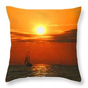 Bayfield Sunset - 1 Throw Pillow