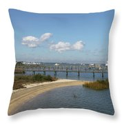 Bayfront St. Augustine Throw Pillow