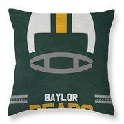 Baylor Bears Vintage Football Art Throw Pillow