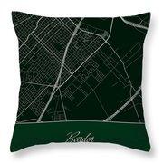 Baylor Street Map - Baylor University Waco Map Throw Pillow