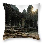 Bayon Temple Throw Pillow