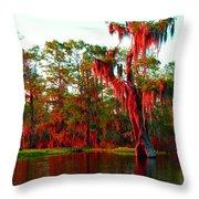Bayou Pigeon Sunset Throw Pillow