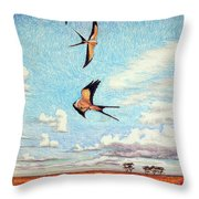Bayou Ballet Throw Pillow