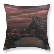Bayou Barn  Throw Pillow