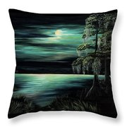 Bayou By Moonlight Throw Pillow