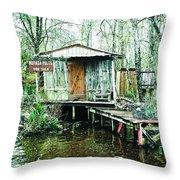 Bayou Cabin Throw Pillow