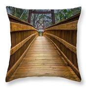 Bayou Foot Bridge Throw Pillow