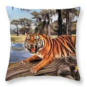 Bayou Mike Of Louisiana Throw Pillow