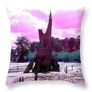 Bayou Pink Throw Pillow