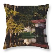 Bayou Shack Throw Pillow