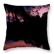 Bayou Sunset Throw Pillow