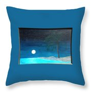 Bayport Moon Rising  Throw Pillow