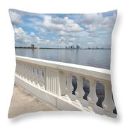 Bayshore Boulevard Balustrade Throw Pillow