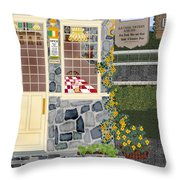 Bayside Inn And Tavern In Ireland Throw Pillow