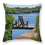 Bayside Respite Throw Pillow