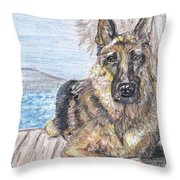 Bayside View Throw Pillow