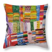 Bazaar Sabado - Gifted Throw Pillow