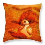 Bb-8 In The Desert - Pa Throw Pillow