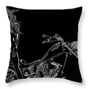 Bb Four Throw Pillow