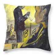 Bb Jazz Throw Pillow