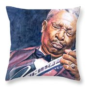 Bb King Throw Pillow