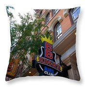 Bb King Bar Nashville Throw Pillow