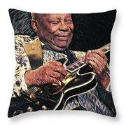 Bb King Throw Pillow