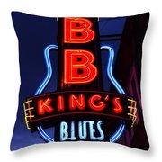 B B King's Blues Club Throw Pillow