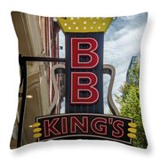 Bb King's Blues Club - Honky Tonk Row Throw Pillow