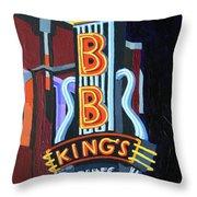 Bb King's Blues Club Throw Pillow