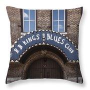 B.b. King's Blues Club Throw Pillow