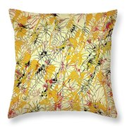 Bumble Bees Against The Windshield - V1ls75 Throw Pillow