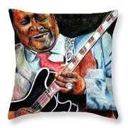 Bbking Throw Pillow