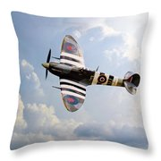 Bbmf Spitfire Ab910 Throw Pillow