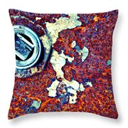 Bbq Pit Abstract Throw Pillow