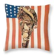 Be A U.s. Marine Throw Pillow