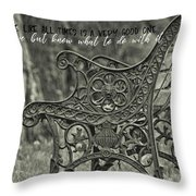 Be Aware Quote Throw Pillow