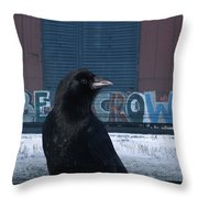 Be Crow Throw Pillow