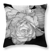Be Gentle Bw Throw Pillow