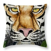 Be Like A Tiger Throw Pillow