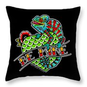 Be Mine Panther Chameleon Throw Pillow